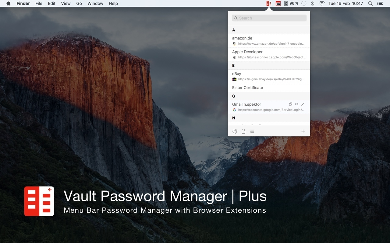Screenshot 1 for Vault Password Manager | Plus