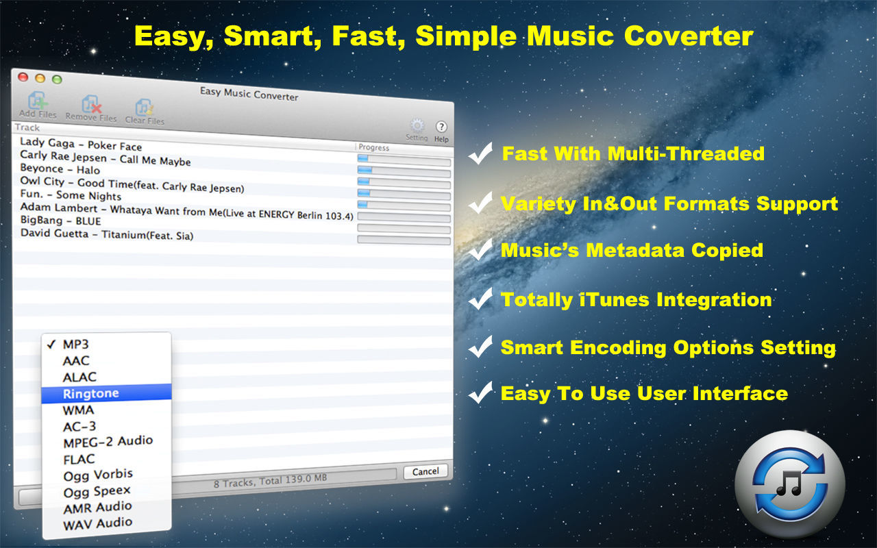 Screenshot 1 for Easy Music Converter