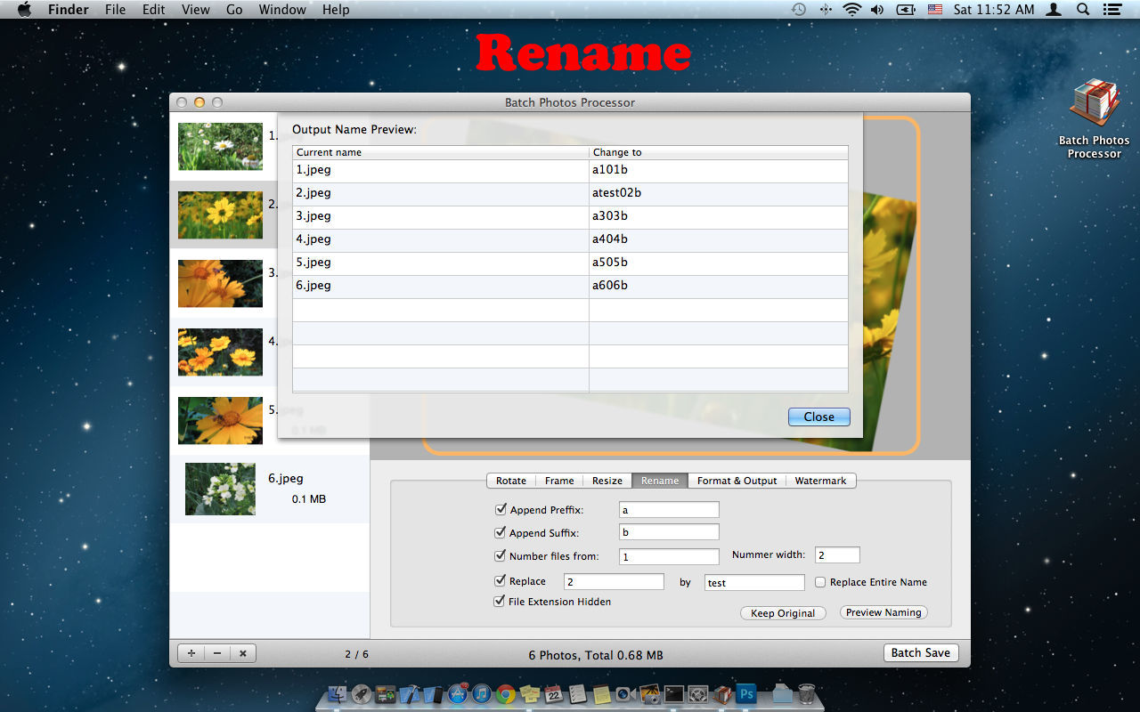 Screenshot 4 for Batch Photos Processor