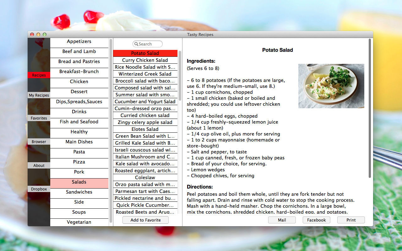 Screenshot 1 for Tasty Recipes