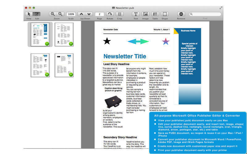 Screenshot 1 for PUB Editor Pro