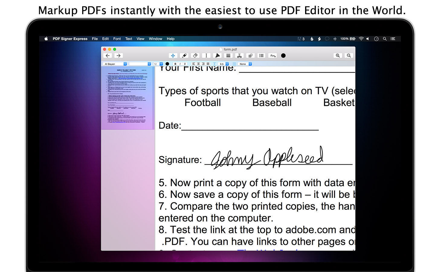 Screenshot 2 for PDF Signer Express