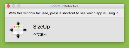 Screenshot 1 for ShortcutDetective