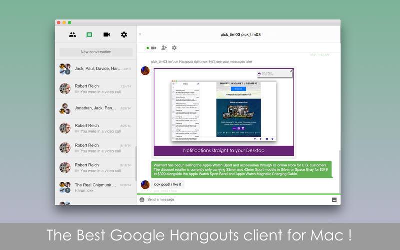 Google hangout download for apple mac
