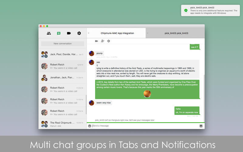 Chatty for Google Hangouts for Mac | MacUpdate