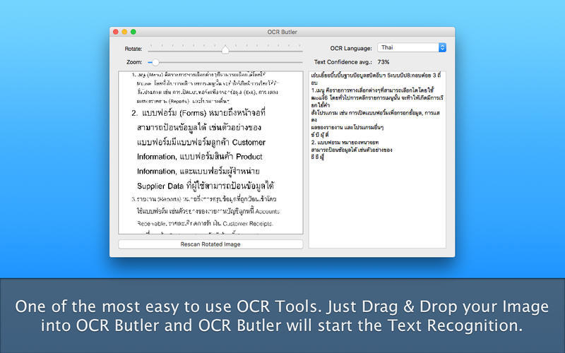 Screenshot 1 for OCR Butler