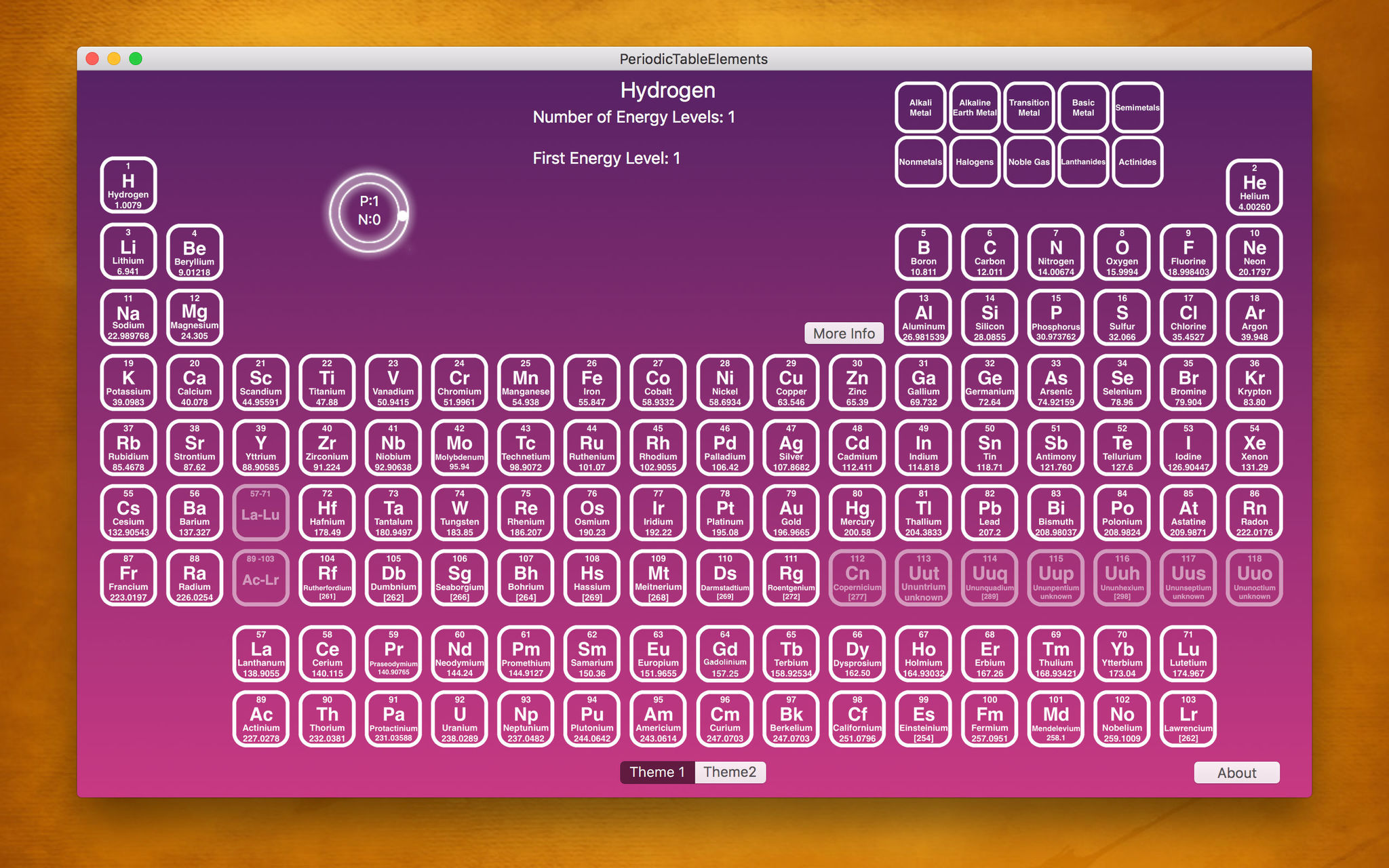 Screenshot 1 for PeriodicTableElements