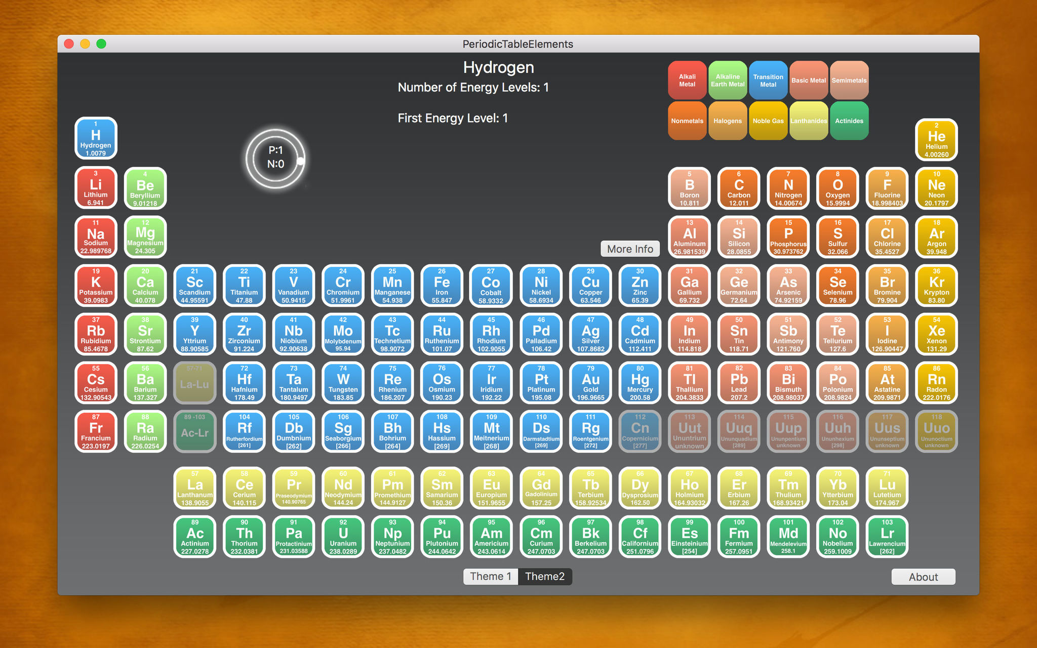 Screenshot 2 for PeriodicTableElements