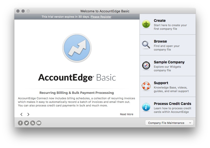 Screenshot 1 for AccountEdge Basic