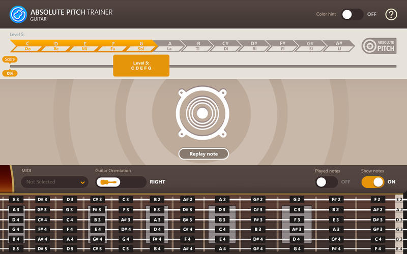 Screenshot 2 for Absolute Pitch Trainer for Guitar