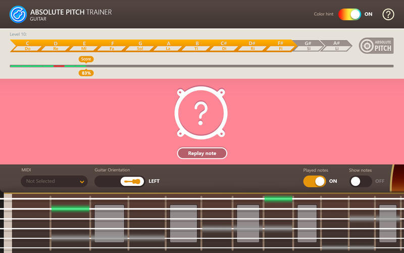 Screenshot 3 for Absolute Pitch Trainer for Guitar