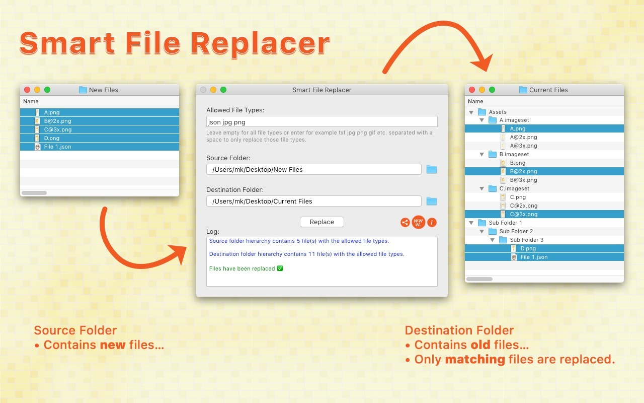Screenshot 1 for Smart File Replacer