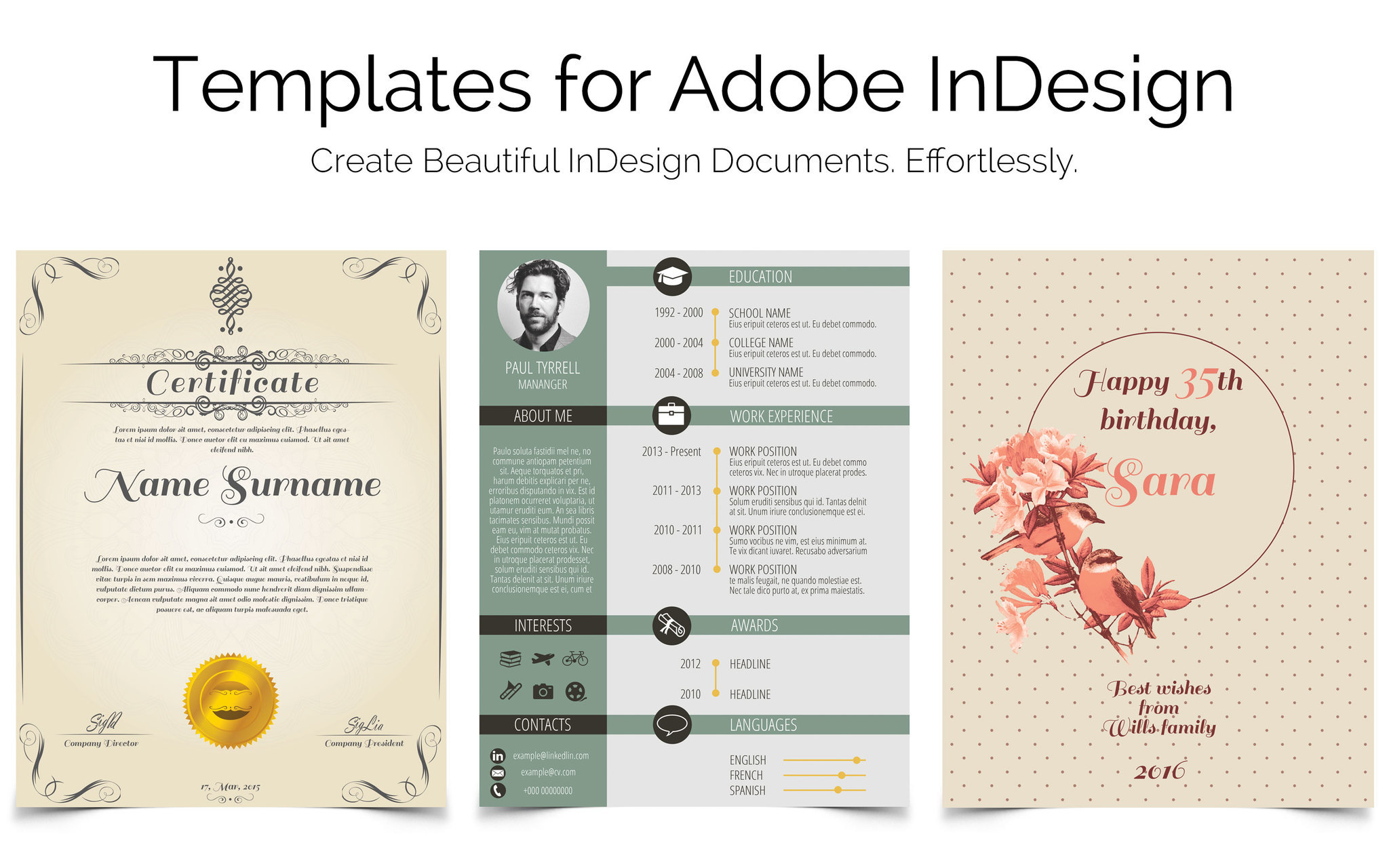 Screenshot 1 for Templates for InDesign