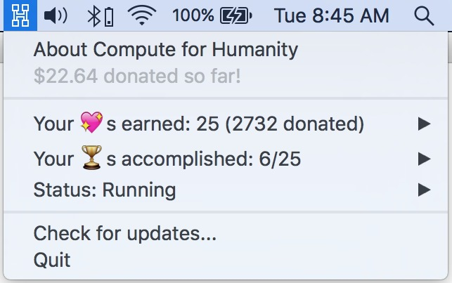 Screenshot 1 for Compute for Humanity