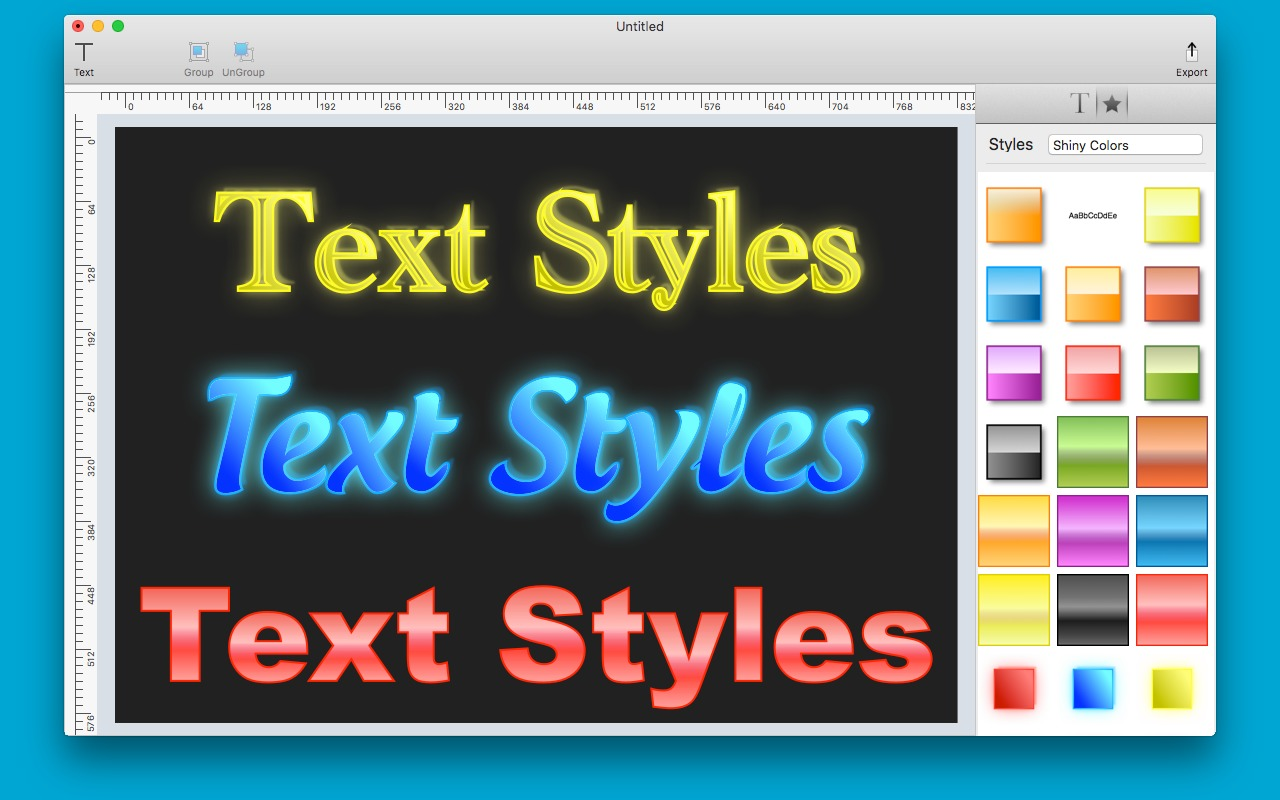 Screenshot 1 for Text Styles