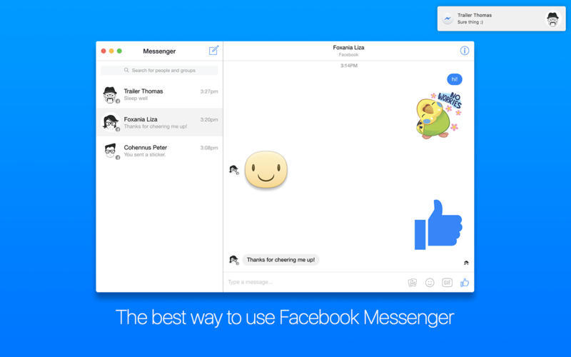 Screenshot 1 for FreeChat for Facebook Messenger