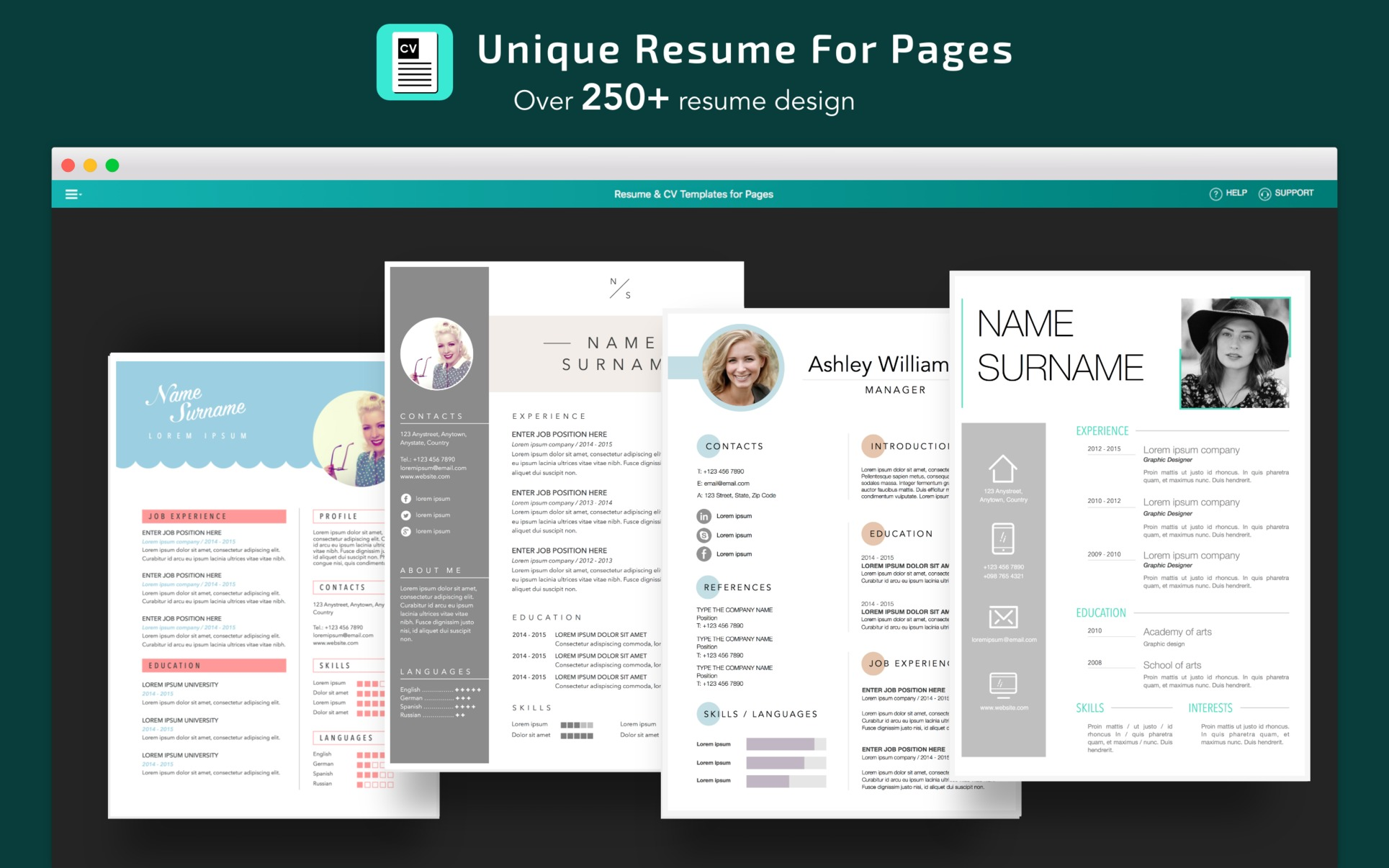 Screenshot 5 for Resume, CV Templates for Pages