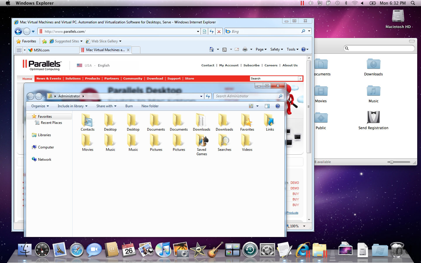 Screenshot 1 for Parallels Desktop Pro Edition