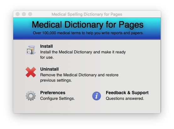 Screenshot 1 for Medical Spelling Dictionary for Pages