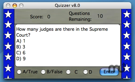 Screenshot 1 for US Constitution and Government Quizzer X