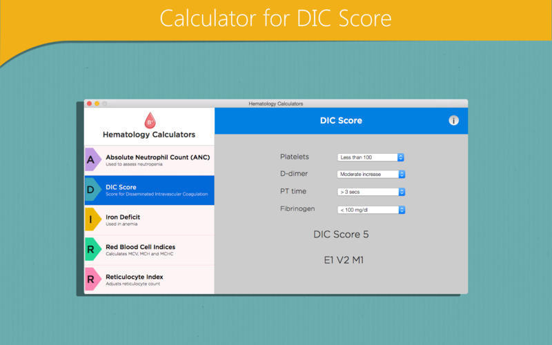 Screenshot 3 for Hematology Calculators