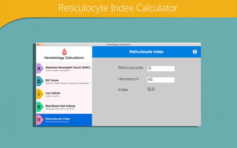 Screenshot 5 for Hematology Calculators