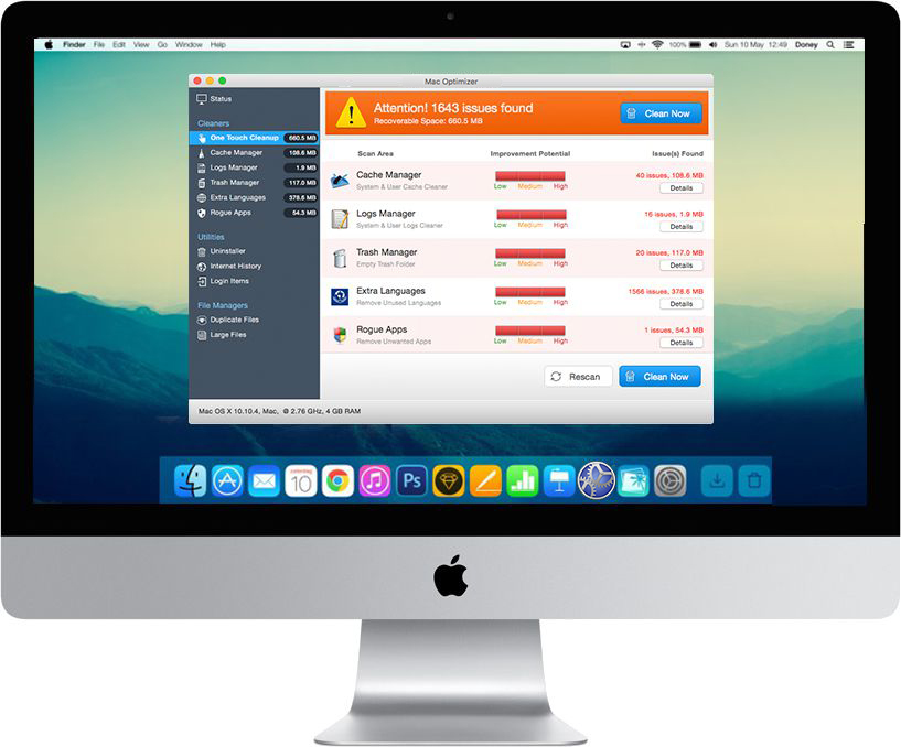 Screenshot 1 for Mac Optimizer