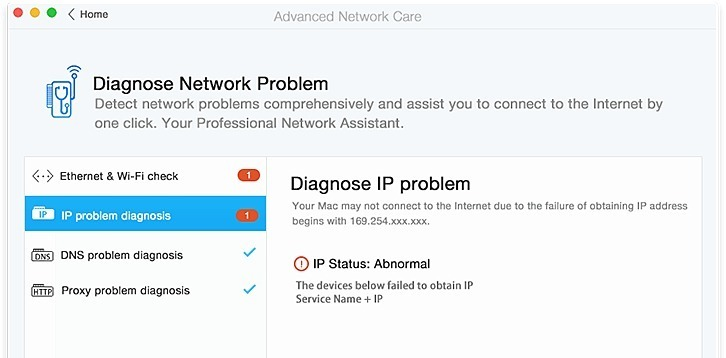 Screenshot 1 for Advanced Network Care