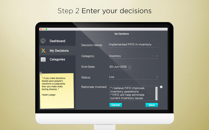 Screenshot 3 for Decisions Tracker