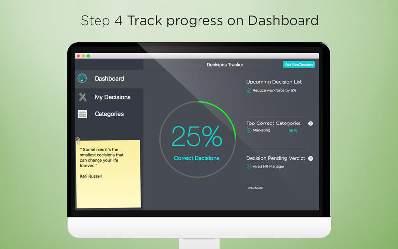 Screenshot 5 for Decisions Tracker
