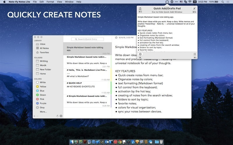 Screenshot 3 for Note-Ify Notes Lite