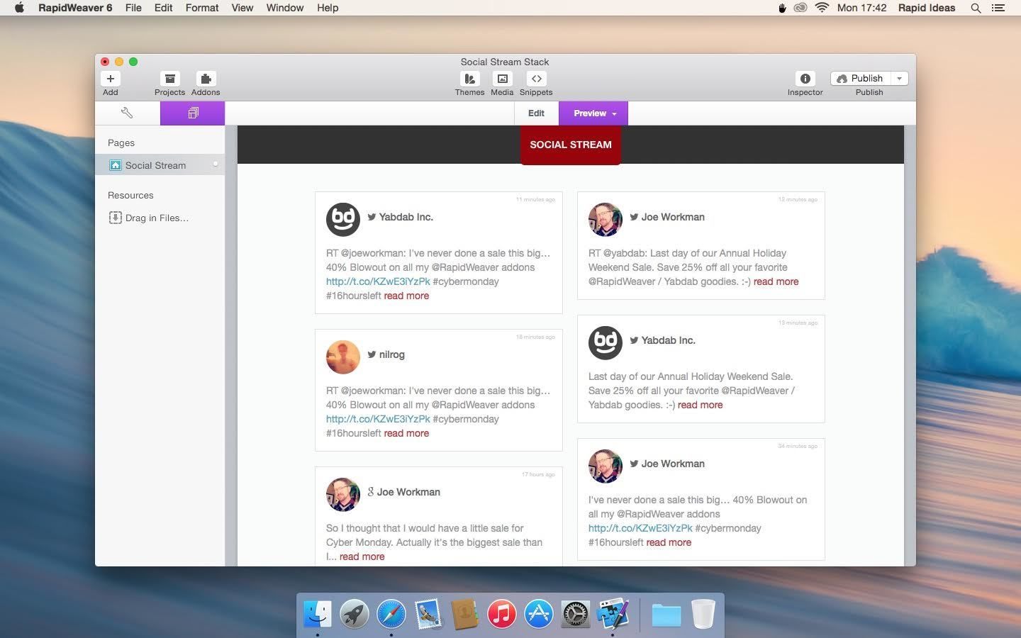 Screenshot 1 for Social Stream Stack