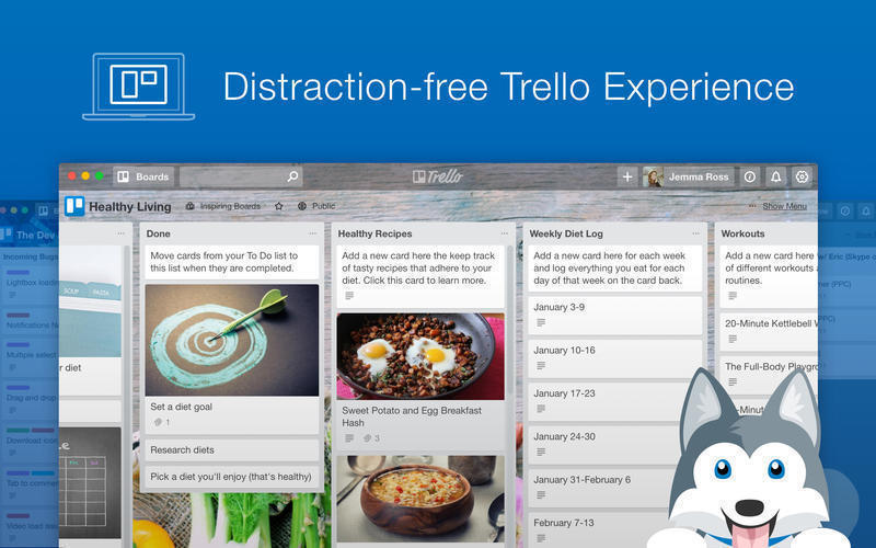 Screenshot 1 for Paws for Trello