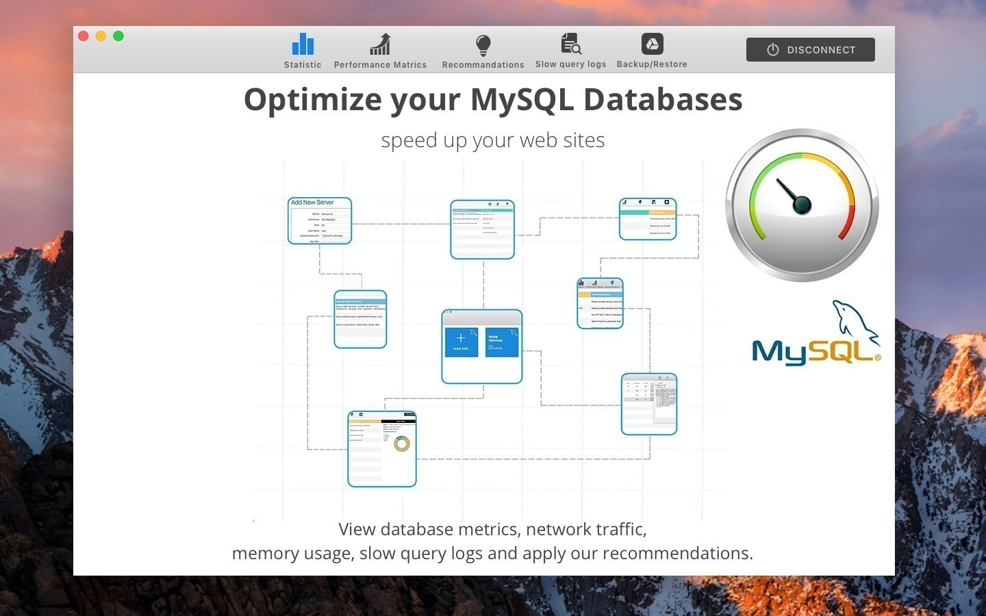 Screenshot 1 for MySQL Optimizer