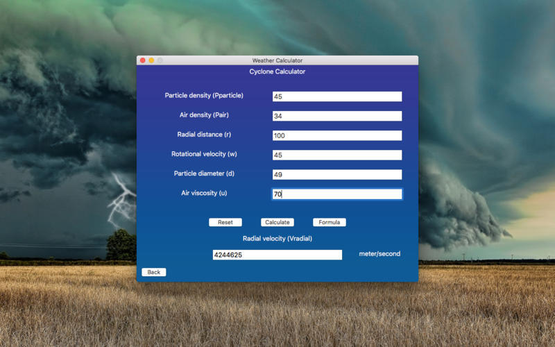 Screenshot 2 for Weather Calculator