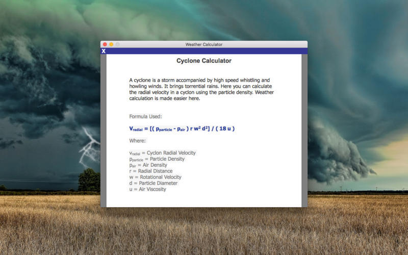 Screenshot 3 for Weather Calculator