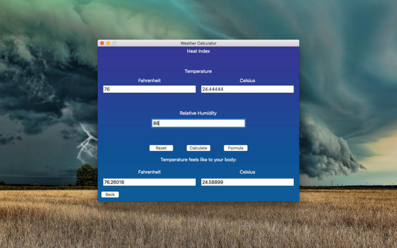 Screenshot 4 for Weather Calculator