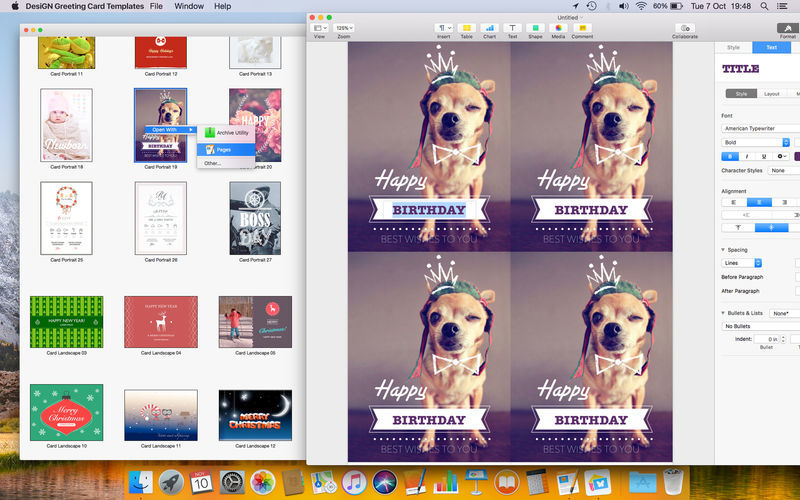 Screenshot 4 for Greeting Card DesiGN Templates