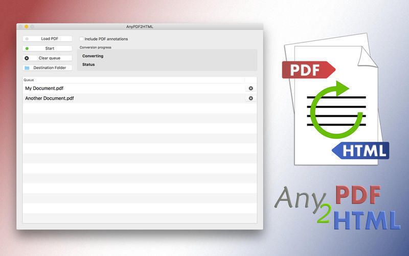 Screenshot 1 for AnyPDF2HTML