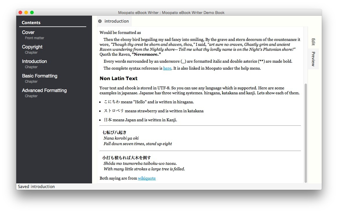 Screenshot 2 for Moopato eBook Writer