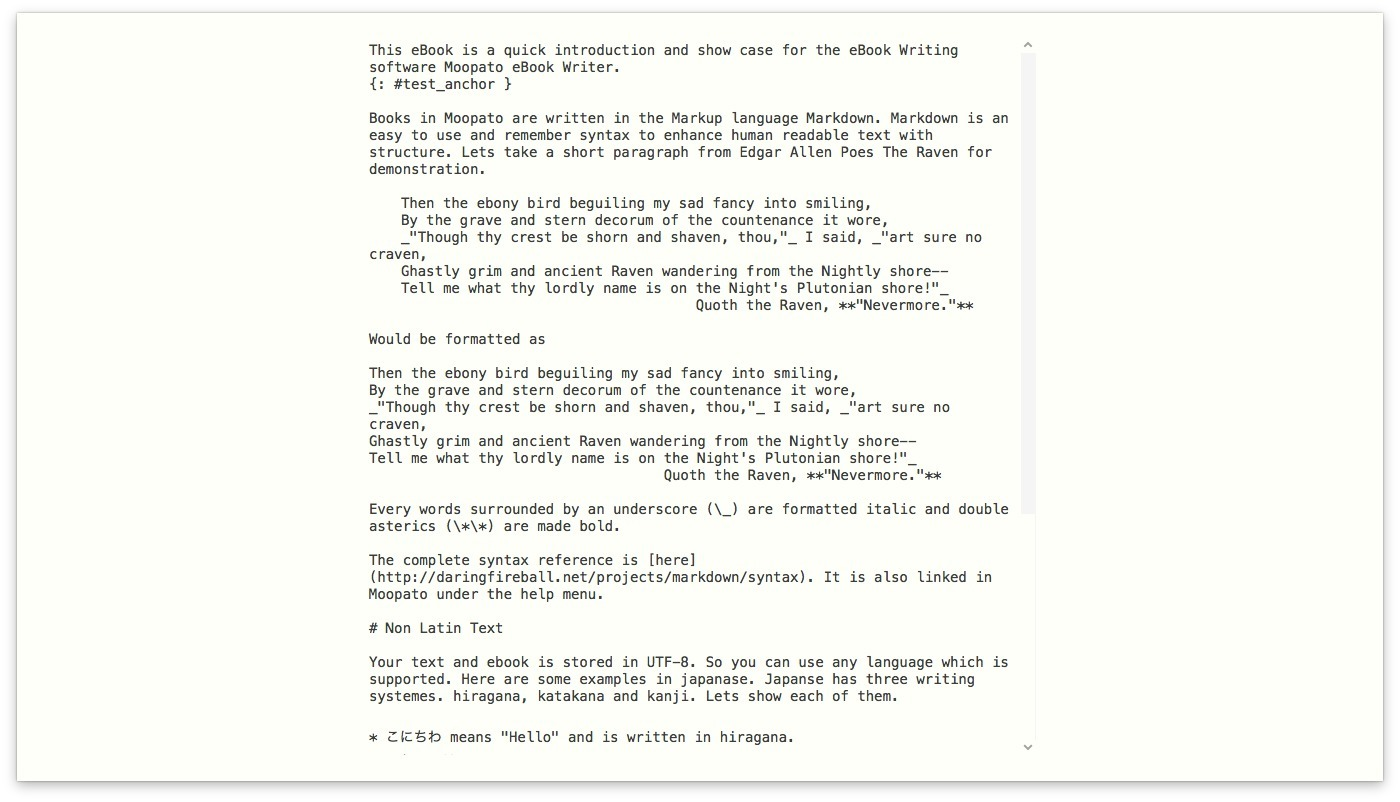 Screenshot 3 for Moopato eBook Writer