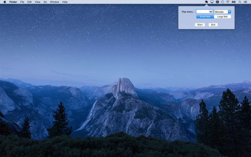 Screenshot 1 for Mindfulness Bell Menu Bar