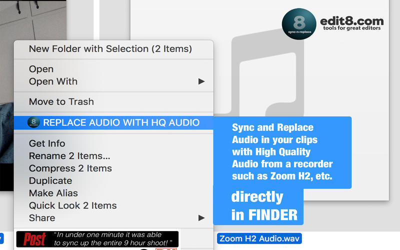 Screenshot 2 for Sync'N'Replace Bad Audio