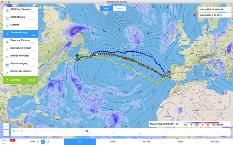 Screenshot 1 for PredictWind Offshore