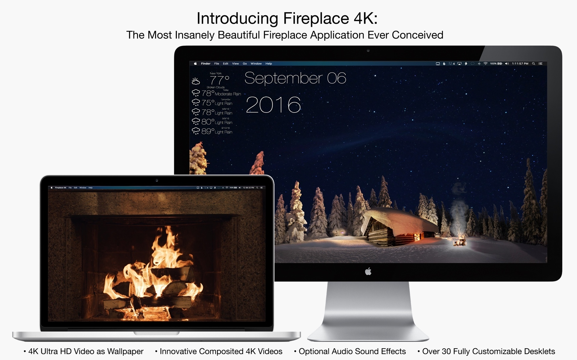 Screenshot 1 for Fireplace 4K