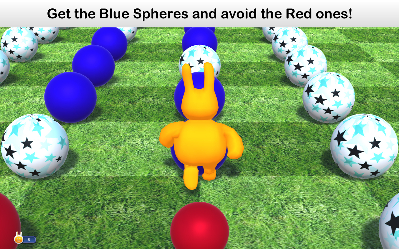 Screenshot 1 for Blue Spheres