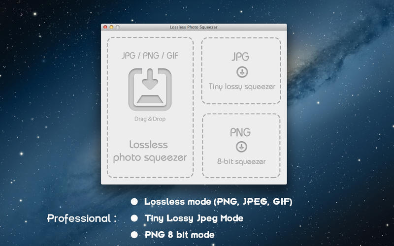Screenshot 1 for Lossless Photo Squeezer