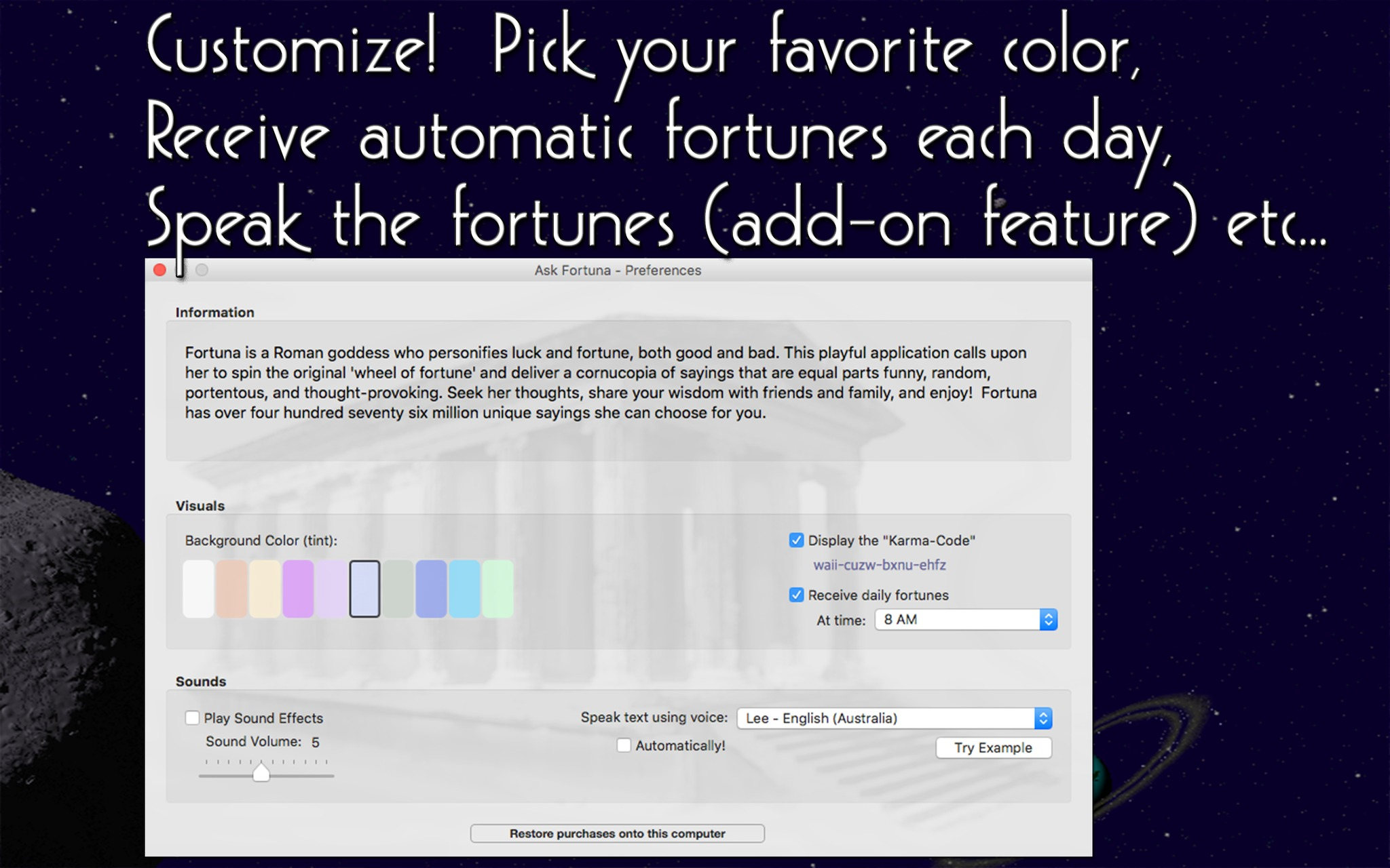 Screenshot 3 for Ask Fortuna