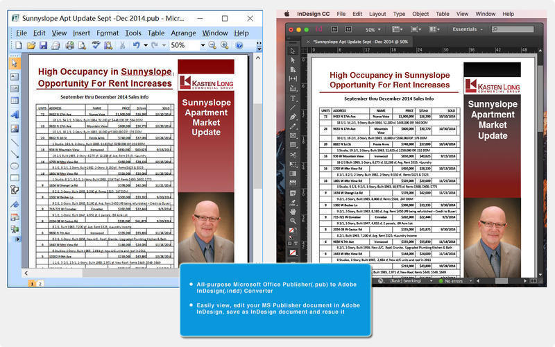 Screenshot 1 for Publisher to InDesign