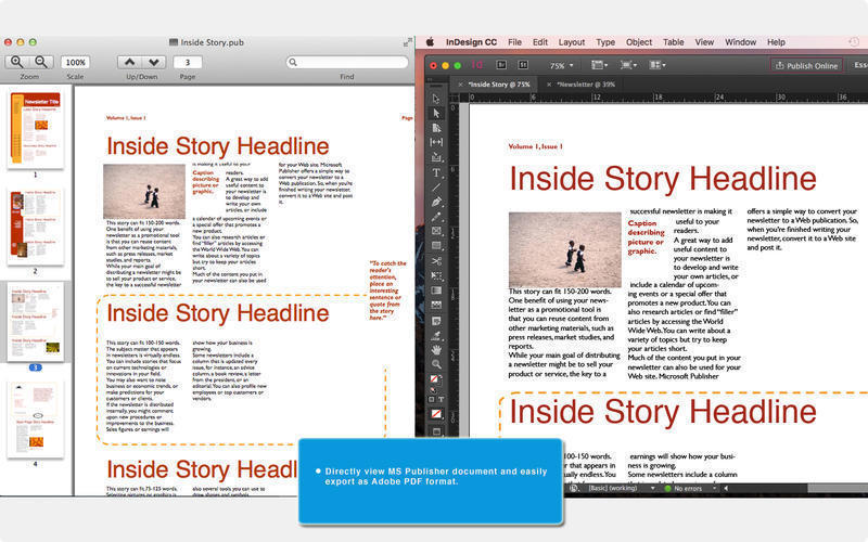 Screenshot 2 for Publisher to InDesign